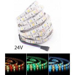 24V RGB+WW 12W/m RGB+WW LED strip - 5 meter, IP65, 60 LED per meter, 24V
