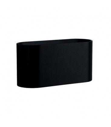LED svart oval vegglamper - Med G9 fatning, IP20 innendørs, 230V, uten lyskilde