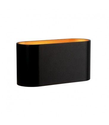 LED svart/kobber oval vegglamper - Med G9 fatning, IP20 innendørs, 230V, uten lyskilde