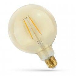 E27 Globe LED pærer 2W LED globepære - Karbon filamenter, rav farget glas, ekstra varm, E27