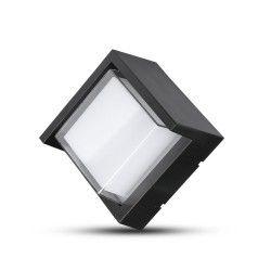 Vegglamper V-Tac 7W LED svart vegglampe - Firkantet, IP65 utendørs, 230V, inkl. lyskilde