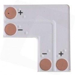 12V L-skjøt til enkelt farget LED strips - Til 3528 strips (8mm bred), 12V / 24V