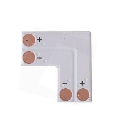 L-skjøt til enkelt farget LED strips - Til 3528 strips (8mm bred), 12V / 24V