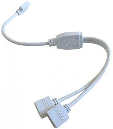 RGB+WW kabel 2-veis splitter - 12/24V, hvit