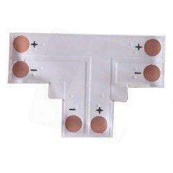 12V T-skjøt til enkelt farget LED strips - Til 3528 strips (8mm bred), 12V / 24V