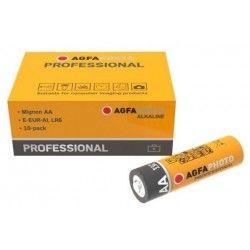 Batterier 10 stk AgfaPhoto Professional Alkaline batteri - AA, 1,5V