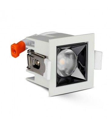V-Tac 4W LED downlight - Hull: 4,5x4,5 cm, Mål: 5,5x5,5 cm, UGR19, RA90, Samsung LED chip, 230V