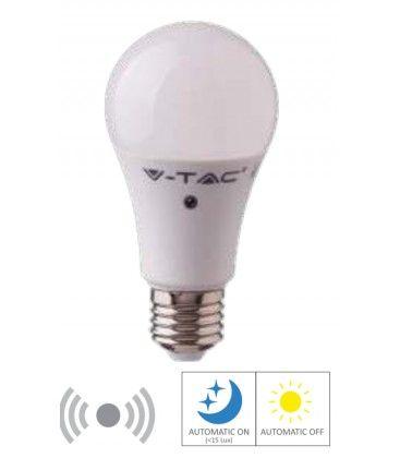 V-Tac 9W LED pære - Bevegelsessensor, 200 grader, A60, E27