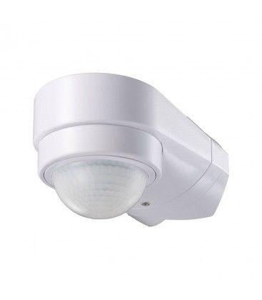 V-Tac bevegelsessensor - LED vennlig, hvit, justerbar vinkel, PIR infrarød, IP65 utendørs