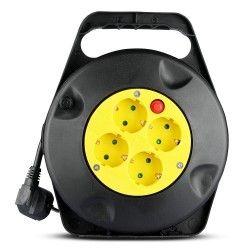 Kabeltromler V-Tac kabeltromle - 10 meter, svart/gul