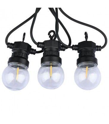 V-Tac LED lysslynge med 10 stk. 0,4W pærer - 5 meter, IP44, 230V, inkl. lyskilde