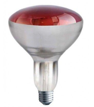 Rød E27 250W infrarød glødetrådpære - Rød varmepære , R125