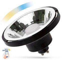G53 AR111 LED 10W Svart Smart Home LED spot - Google Home, Amazon Alexa kompatibel, GU10 AR111