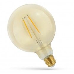 5W LED globepære - Karbon filamenter, rav farget glas, ekstra varm, E27