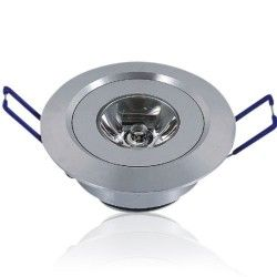 LED downlights 1W LED downlight - Hull: Ø4,4-4,8 cm, Mål: Ø5,2 cm, 2,2 cm høy, dimbar, 12V