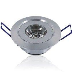 Downlights 1W LED downlight - Hull: Ø4,4-4,8 cm, Mål: Ø5,2 cm, 2,2 cm høy, dimbar, 12V/24V