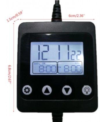 LED timer med DC stik - Til enkelfarget LED, 12/24V, maks. 150W