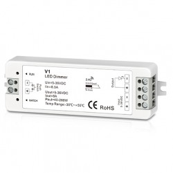 LED strips Trådløs dimmer uten fjernkontroll - RF trådløs, 12V (96W), 24V (192W)