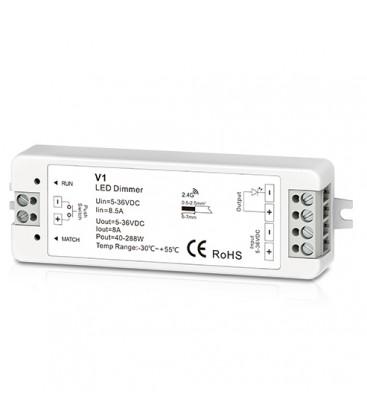 Trådløs dimmer uten fjernkontroll - RF trådløs, 12V (96W), 24V (192W)