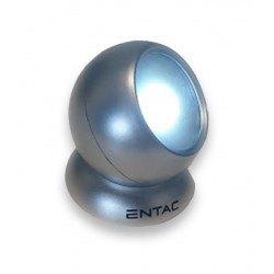 LED lommelykter LED batteri lykte - 1W, rund, 3xAAA, sølv, magnetisk fot