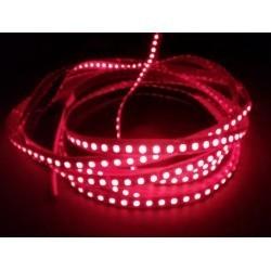 12V Rød 670 mn 4,8W/m LED stripe - 5m, IP20, 60 LED per meter