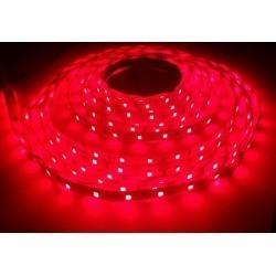 12V Rød 660 nm 4,8W/m LED stripe - 5m, IP20, 60 LED per meter