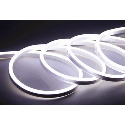 8x16 Neon Flex LED - 8W per meter, kald hvit, IP67, 230V