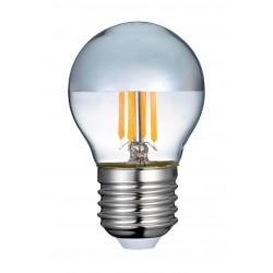 E27 vanlig LED 4W LED kronepære - Toppforspeiled, dimbar, E27