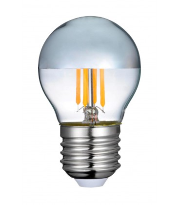 4W LED kronepære - Toppforspeiled, dimbar, E27