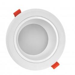 Downlights 15W LED spotlight - Hull: Ø13 cm, Mål: Ø15 cm, 230V, IP44 våtrom & tak overheng