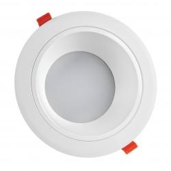 Downlights 20W LED spotlight - Hull: Ø17 cm, Mål: Ø19 cm, 230V, IP44 våtrom & tak overheng