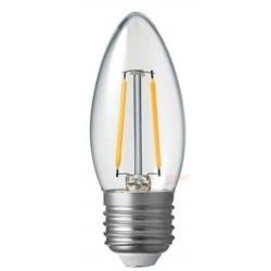 E27 vanlig LED Restsalg: 2W LED sterinlys pære - Karbon filamenter, E27