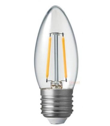Restsalg: 2W LED sterinlys pære - Karbon filamenter, E27