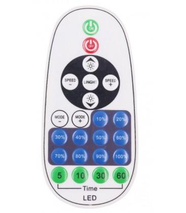 RF trådløs timer+dimmer med fjernkontroll - Inkl. endestykke, til 230V (Type Q), minnefunksjon