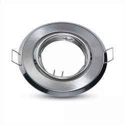 Innendørs downlights Downlight kit uten lyskilde - Høyde: Ø7 cm, Mål: Ø9,3 cm, Børstet stål, vælg MR16 eller GU10 fatning