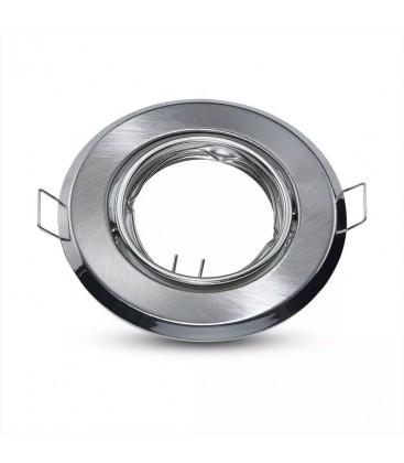 Downlight kit uten lyskilde - Høyde: Ø7 cm, Mål: Ø9,3 cm, Børstet stål, vælg MR16 eller GU10 fatning