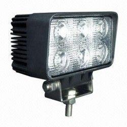 Lyskastere til kjøretøy 18W LED arbeidslys - Bil, lastebil, traktor, trailer, utrykningskjøretøyer, kald hvit, 12V / 24V