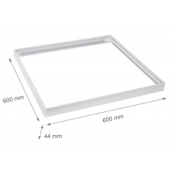 Store paneler Ramme til 60x60 LED panel - Hurtig samlesett, Plast hjørner, Hvitt