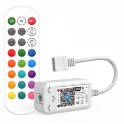 12V IP68 RGB Smart Home RGB controller - Virker med Google Home, Alexa og smartphones, 12V (144W), 24V (288W)