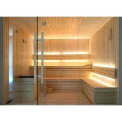 Saunalys Badstu LED strip - 1M, 8W per meter, IP68, 24V