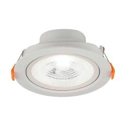 LED panel downlights V-Tac 7W LED spotlight - Hull: Ø7,5 cm, Mål: Ø9,1 cm, 4,6 cm høy, 230V