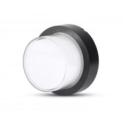 Utendørs vegglampe V-Tac 7W LED svart vegglamper - Rund, IP65 utendørs, 230V, inkl. lyskilde