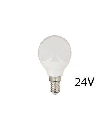 2W LED pære - P45, E14, 24V