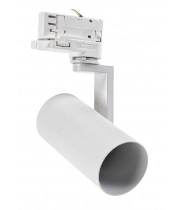 Hvit skinnespot med GU10 fatning - Passer V-Tac skinner, 3-faset, uten lyskilde