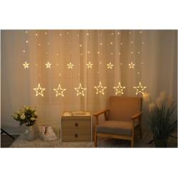 2 x 1 meter utendørs LED julelysslyngenet - IP44, 230V, 160 LED, varm hvit