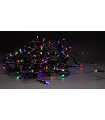 14 meter utendørs LED julelysslynge - IP44, 230V, 180 LED, multicolor