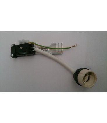Downlight kit uten lyskilde -  Ø8 cm, hull: Ø6,5, blank hvitlakkert.  Inkl. keramisk fatning til GU10 eller MR16.