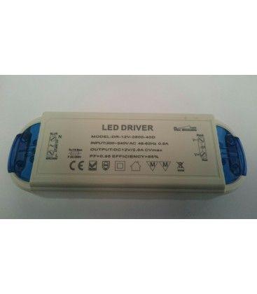 30W dimbar strømforsyning - 12V DC, 2,5A, IP20 innendørs