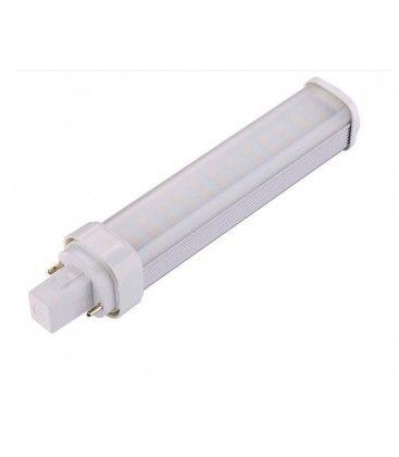 G24Q LED pære - 7W, 120°, varm hvit, mattert