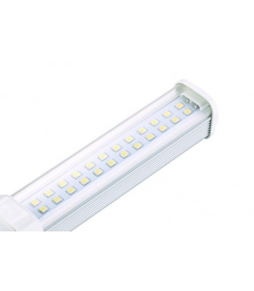 G24D LED pære - 7W, 120°, varm hvit, klar glass